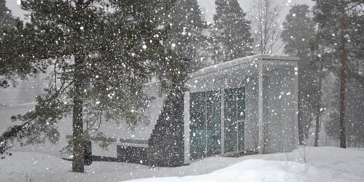 vinha in snowstorm