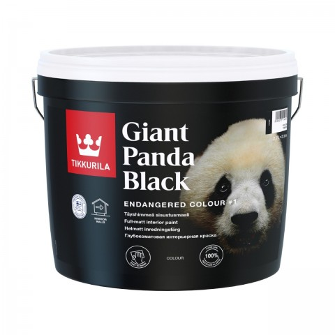 Endangered Colour Giant Panda Black