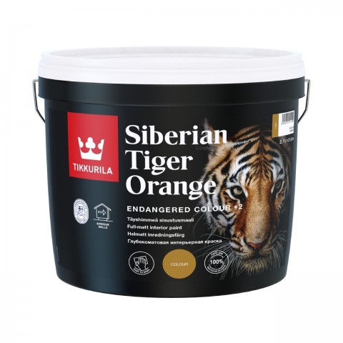 Endangered Colour Siberian Tiger Orange